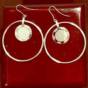 Dolce and Gabbana Disc Logo hoop earrings